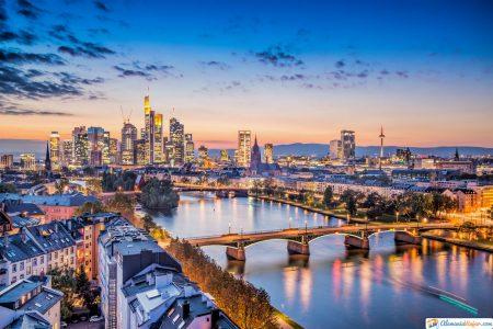ciudad de Frankfurt en Alemania